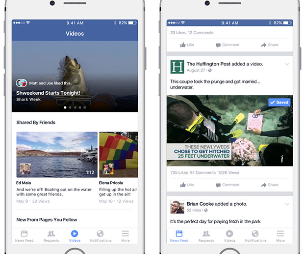 Facebook Sets New Lures for Video Viewers